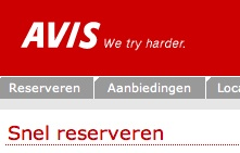 Avis.nl, still trying harder